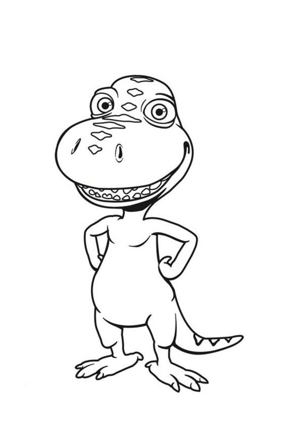 Dinosaurus Train, : Buddy the Tyrannosaurus Character from Dinosaurus Train Coloring Page