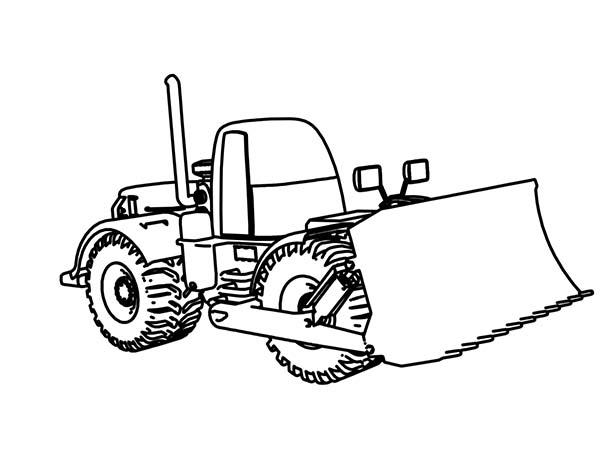 Bulldozer, : Bulldozer for Farming Coloring Page