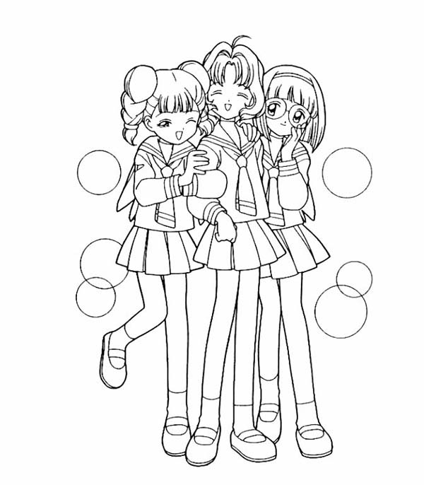 Card captors free colouring pages for Cardcaptor sakura coloring pages