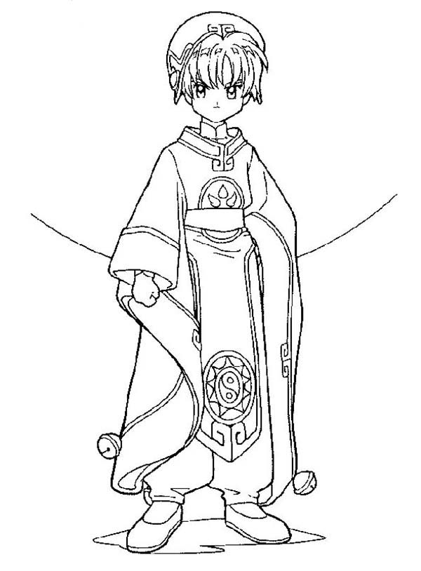 Cardcaptor Sakura, : Cardcaptor Sakura Coloring Page