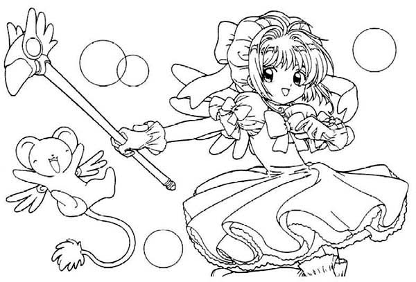 Cardcaptor sakura pages coloring pages for Cardcaptor sakura coloring pages