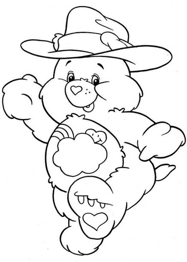 Care Bear, : Care Bear Cowboy Coloring Page