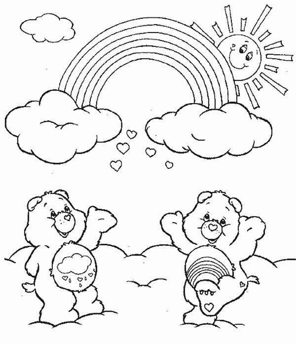 Care Bear, : Care Bear Fun Time Together Coloring Page