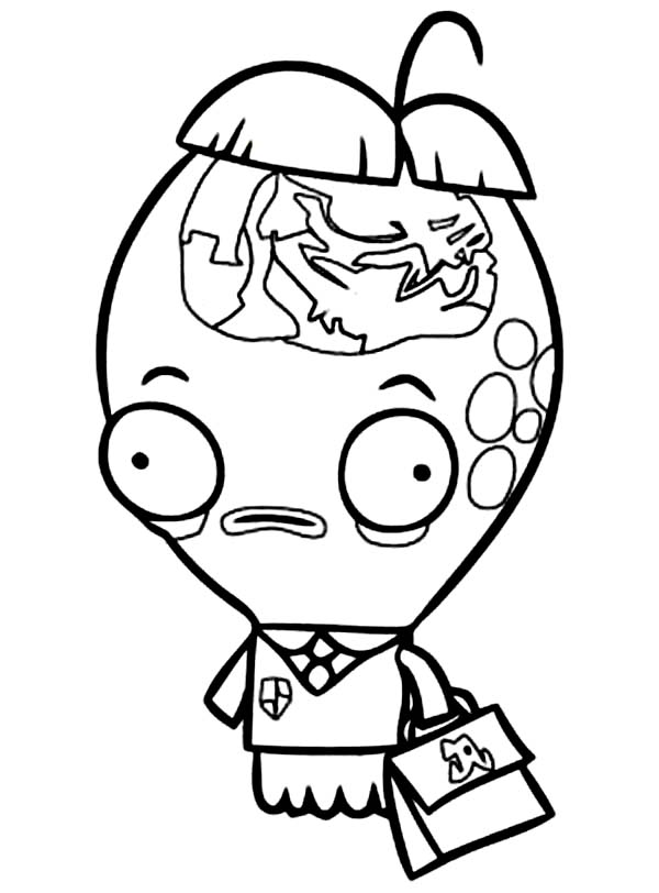 Fish Hooks, : Character from Fish Hooks Albert Glass Coloring Page