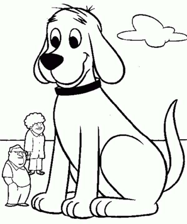 Clifford the Big Red Dog Meet Neighbour Coloring Page | Coloring Sun