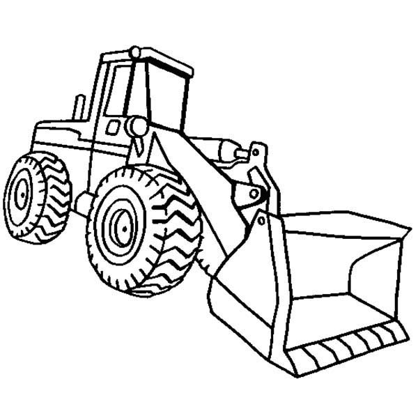 Construction, : Construction Loader Coloring Page