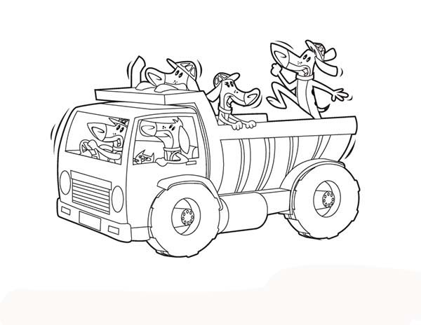 Construction, : Construction Work Animals Coloring Page