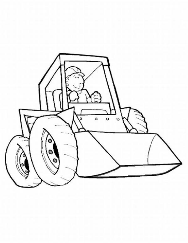 Construction, : Construction Work Equipment Coloring Page