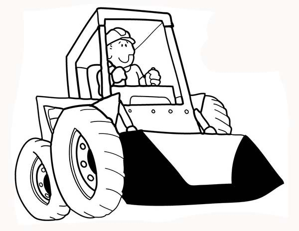 Construction, : Construction Work Need Bulldozer Coloring Page