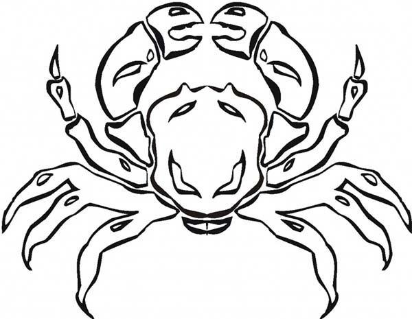 Crab, : Crab Coloring Page