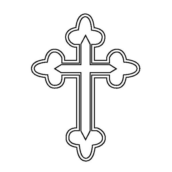 Cross, : Cross Symbol Coloring Page