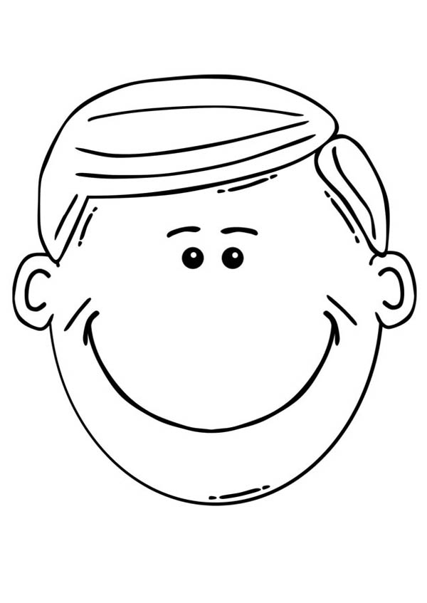 Cute Smile Face Coloring Page Cute Smile Face Coloring