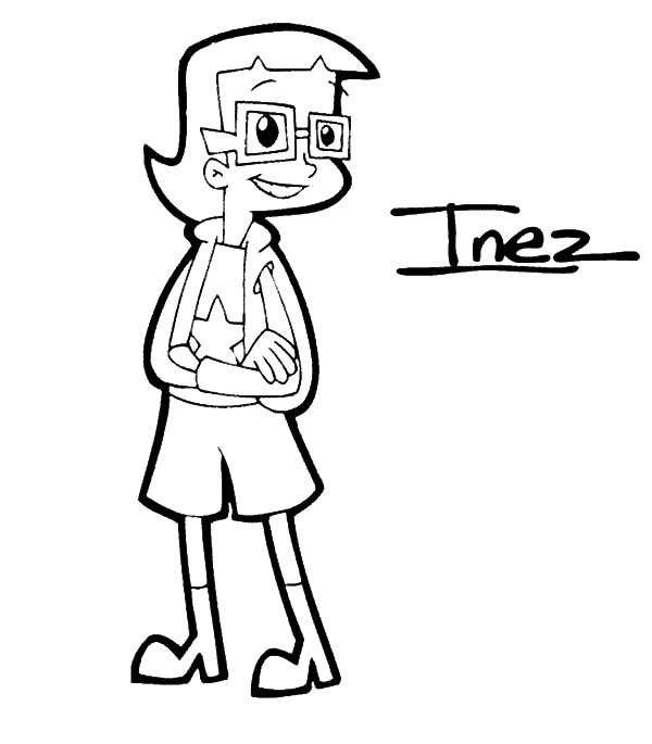 Cyberchase, : Cyberchase Character Inez Coloring Page