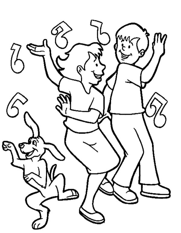 dance in the club with boyfriend coloring page