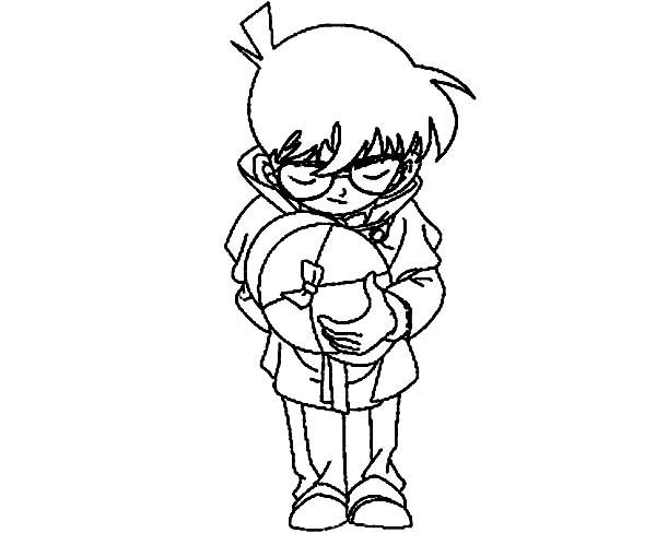 Detective Conan, : Detective Conan Bowing Coloring Page