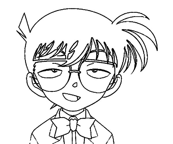 Detective Conan, : Detective Conan Relieve After Murderer Was Captured Coloring Page