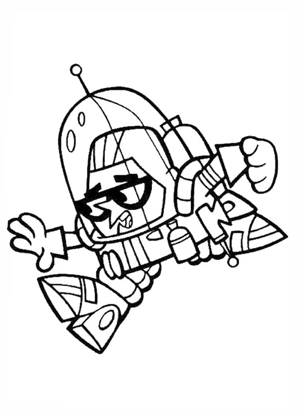 Dexters Lab, : Dexter Wearing Robot Costume from Dexters Lab Coloring Page