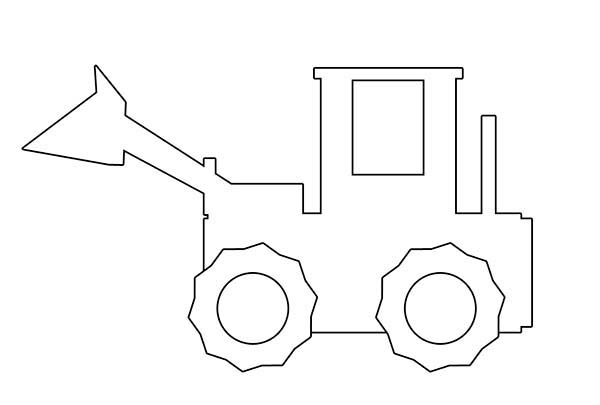 Bulldozer, : Digger Bulldozer Outline Coloring Page