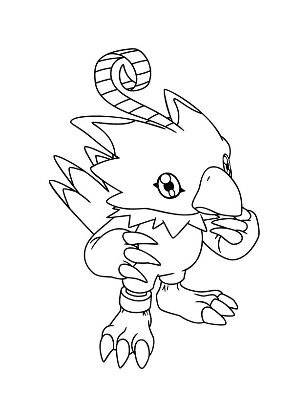Digimon, : Digimon Biyomon Before Digivolution Coloring Page