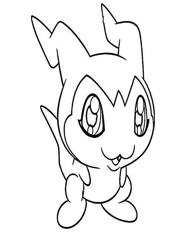 Digimon, : Digimon DemiVeemon is Veemon in Training Form Coloring Page