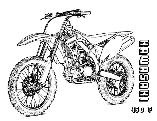 Kawasaki Colouring Pages