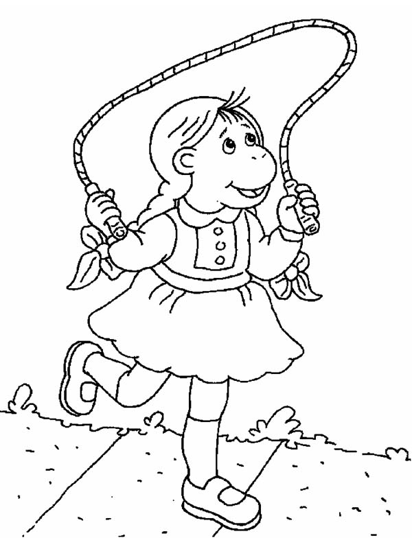 Arthur, : Dora Winifred Read Playing Rope in Arthur Coloring Page