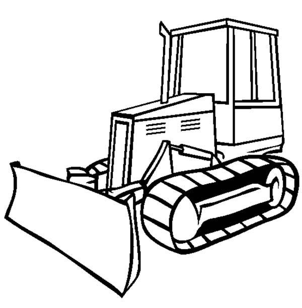 Bulldozer, : Drawing Bulldozer Coloring Page