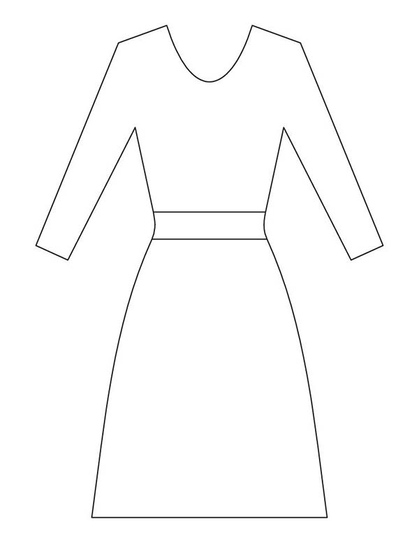 Delicieux Dress Outline Picture Coloring Page