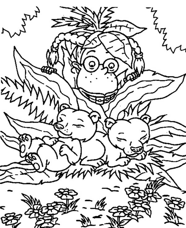 Thornberrys, : Eliza Found Two Baby Bear in the Thornberrys Coloring Page