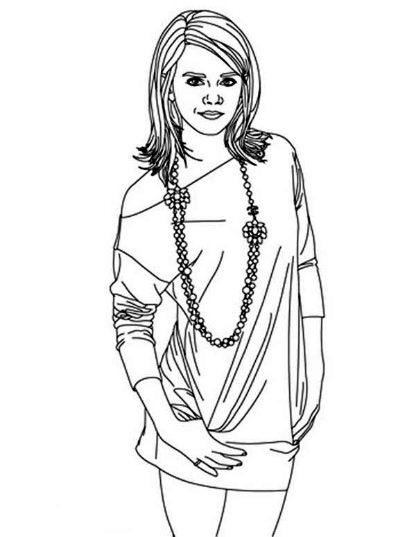 Beautiful Ladies, : Emma Watson One of Most Beautiful Ladies Coloring Page
