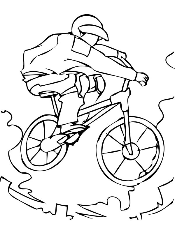 Bicycle, : Extreme Sport BMX Bicycle Coloring Page