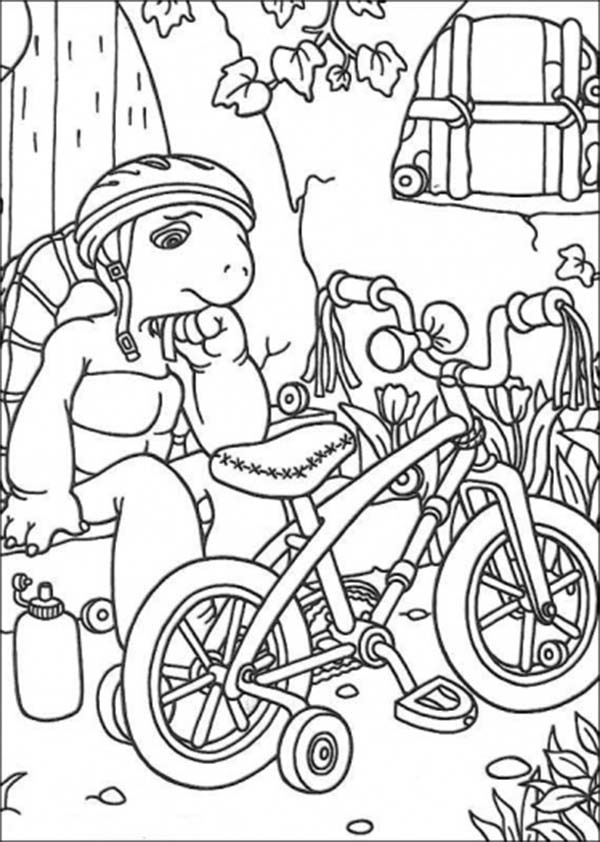 Bicycle, : Franklin is Sad Her Bicycle Broke Coloring Page