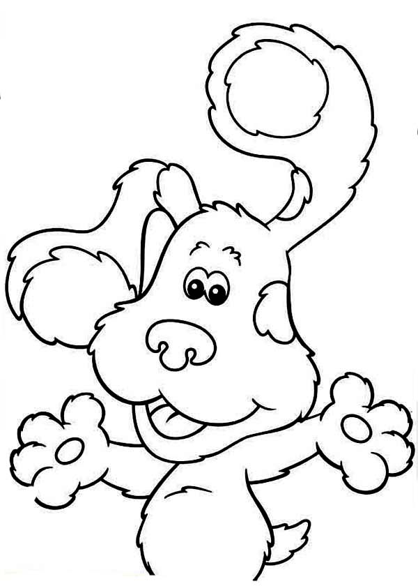 Blues Clues, : Friendly Blues Clues Coloring Page