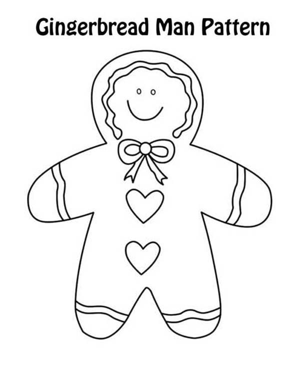 Gingerbread Men, : Gingerbread Men Pattern Coloring Page