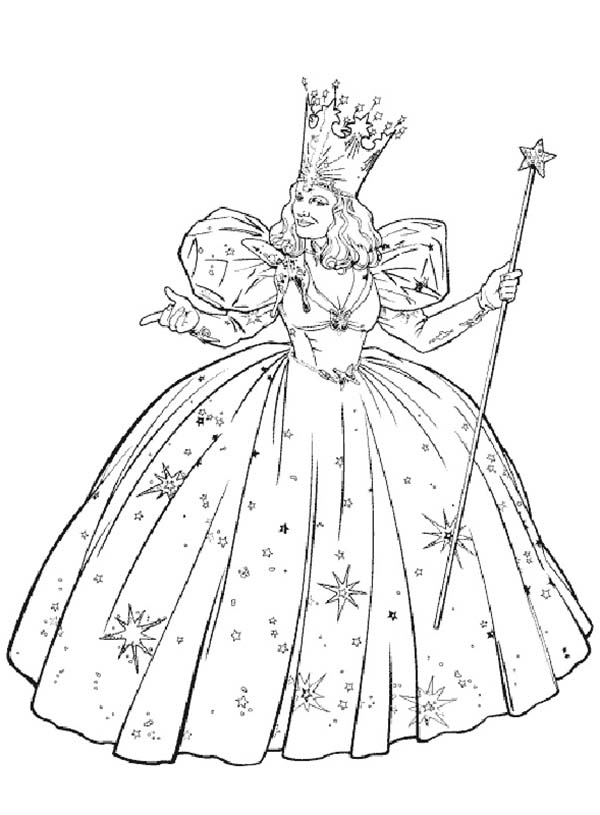The Wizard of Oz, : Glinda from the Wizard of Oz Coloring Page