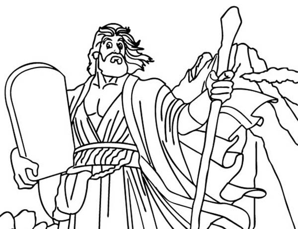 Moses And Ten Commandments Coloring Pages