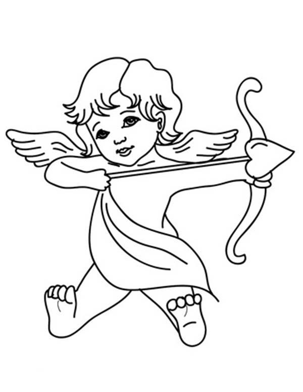 Cupid, : God of Love Cupid Coloring Page