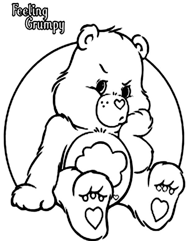 grumpy care bears coloring pages - photo#16
