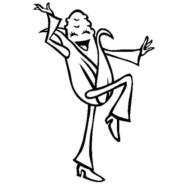 Corn, : Happy Corn Cob is Dancing Coloring Page