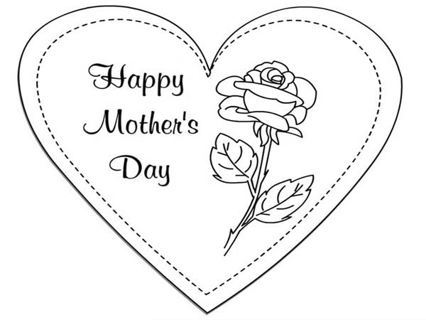 Happy Mothers Day to My Mommy Coloring Page Happy Mothers Day to My