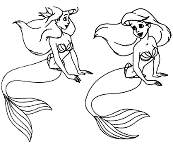 Ariel, : How to Draw Ariel Coloring Page