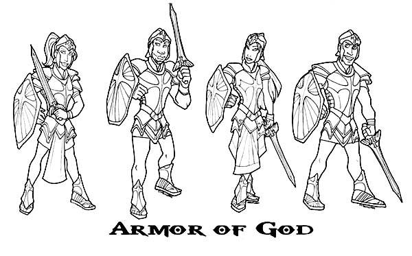 Armor of God, : How to Draw Armor of God Coloring Page