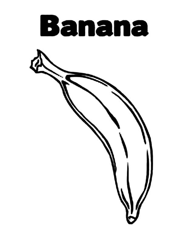 Banana, : How to Draw Banana Coloring Page