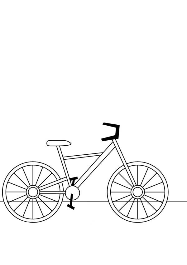 Bicycle, : How to Draw Bicycle Coloring Page