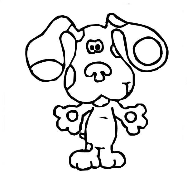 Blues Clues, : How to Draw Blues Clues Coloring Page