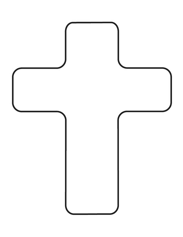 Cross, : How to Draw Cross Coloring Page