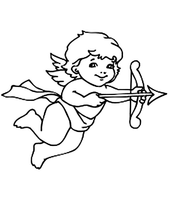 Cupid, : How to Draw Cupid Coloring Page
