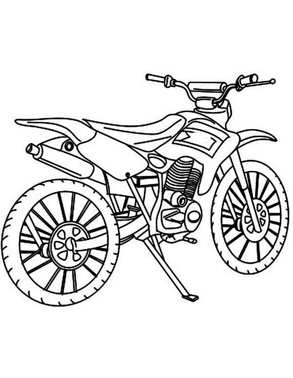 Dirt Bike, : How to Draw Dirt Bike Coloring Page