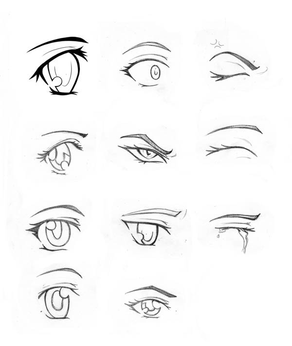 manga eye coloring pages - photo#9