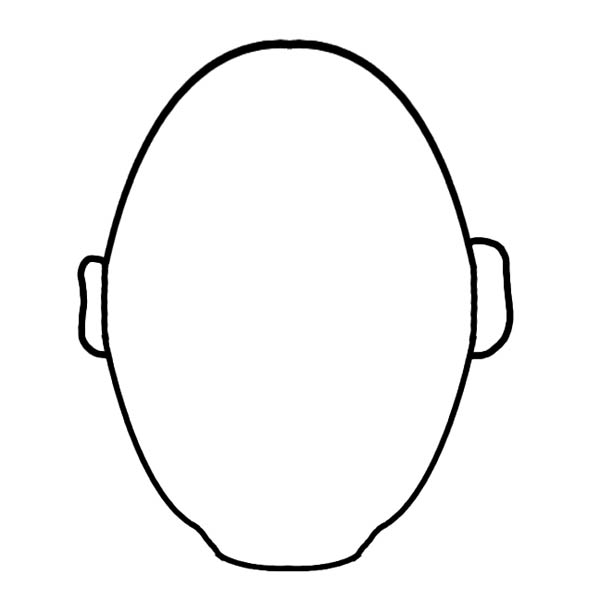 Face, : How to Draw Type of Face Coloring Page